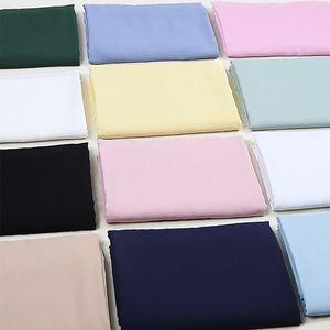 人造棉布料 绵绸纯色棉布t恤黑色白服装衣服面料布头清仓棉绸布料