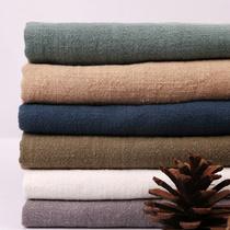 水洗棉麻布料服装面料diy素色麻布薄款亚麻纯色夏季苎麻布料清仓
