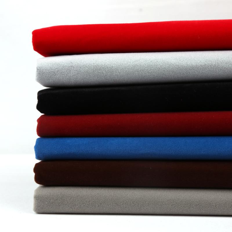 背胶绒布 自粘布植绒布柜台抽屉首饰加厚黑色不干胶带胶 绒布布料
