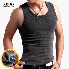 Men's warm vest Men's winter thicker velvet underwear tightly fitted young people wear underneath cotton shoulder waistcoat