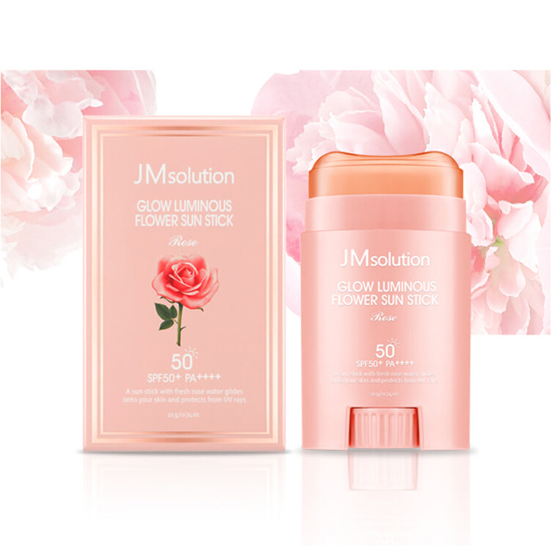 Korean jmsolution sunscreen stick JM pink rose sunscreen stick cream is waterproof and refreshing for the whole body