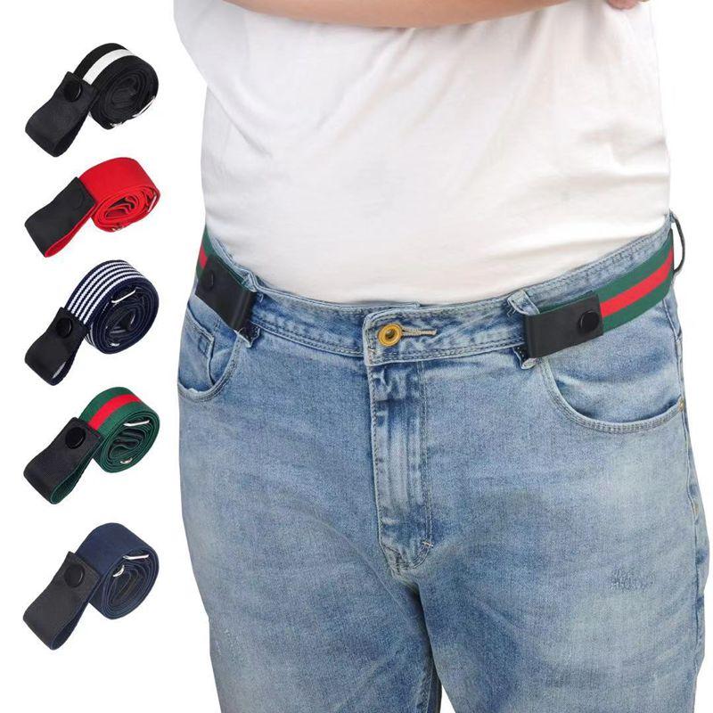 Japanese elastic belt, lazy man, anti allergy, adjustable elastic, wide, metal free, fine and traceless belt, man
