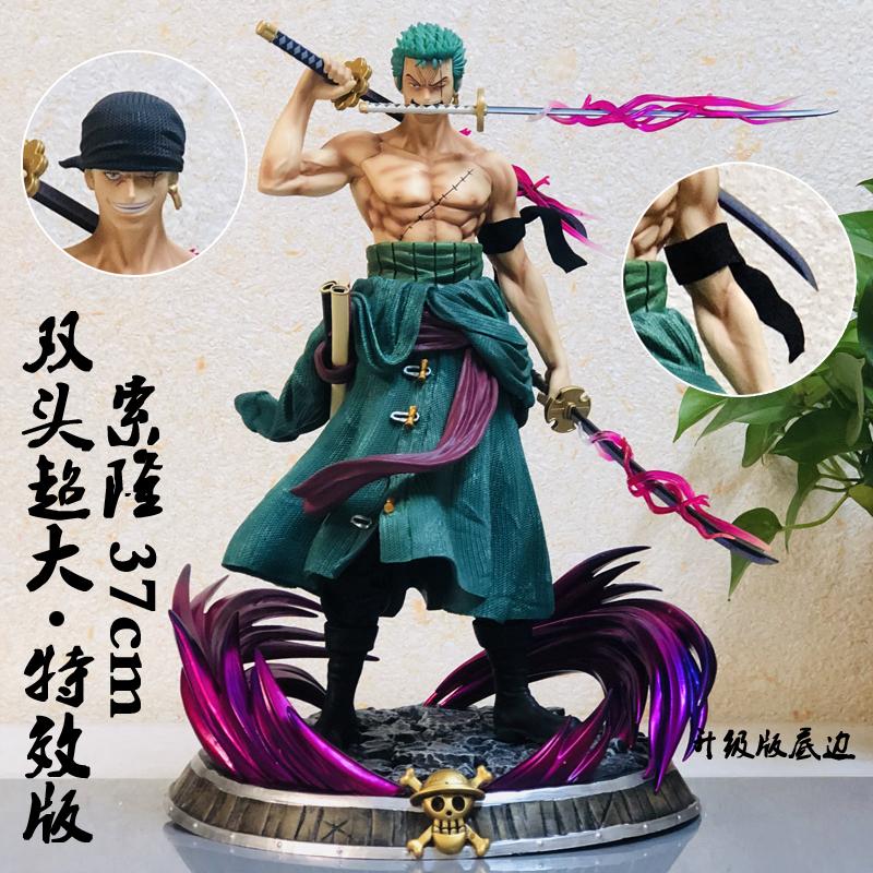 海贼王手办gk梦幻索隆路飞山治艾斯三刀流大型超大雕像模型现货