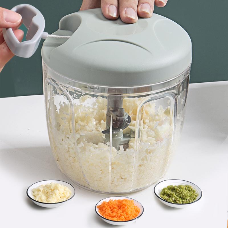 捣蒜泥神器手动家用大蒜蓉小型手拉式压捣蒜器迷你打蒜机搅蒜碎器