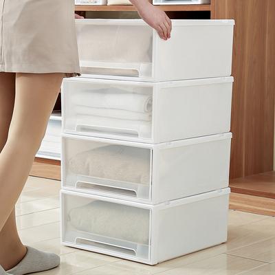 抽屉式收纳箱塑料储物整理衣服物家用宿舍衣柜内衣收纳盒收纳柜子