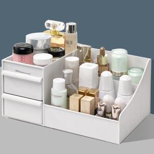 放化妆品收纳盒抽屉式大号整理口红刷护肤品宿舍梳妆台桌面置物架