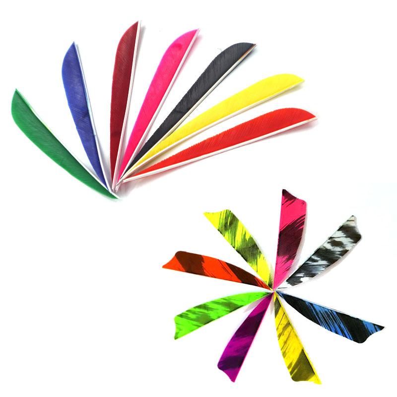 弓箭美猎复合传统箭羽火鸡羽毛2.5寸3寸4寸5寸盾形水滴火鸡真羽