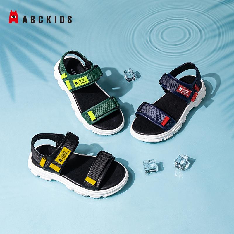 abckids童鞋夏季男童女童沙滩鞋中小童时尚百搭休闲软底儿童凉鞋