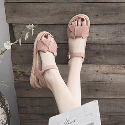 凉鞋女士2020年夏季新款厚底学生仙女风百搭时装温柔平底鞋ins潮