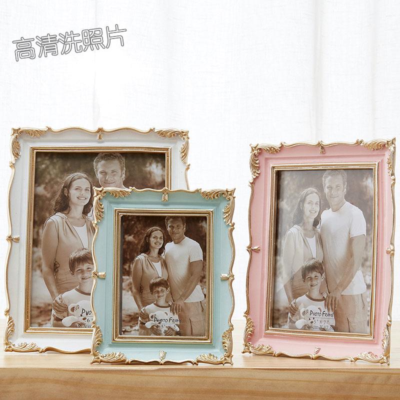 5寸6寸7寸8寸相框摆台创意洗照片加相框架欧式小奢华现代简约个性