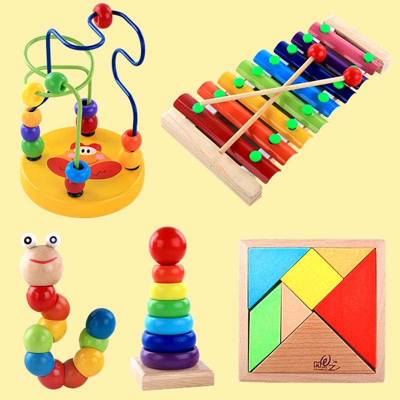 Деревянный фортепиано младенец младенец ребенок головоломка музыка игрушка мальчик девушка ребенок 1-2-3 полный год половина дерево гусли музыкальные инструменты