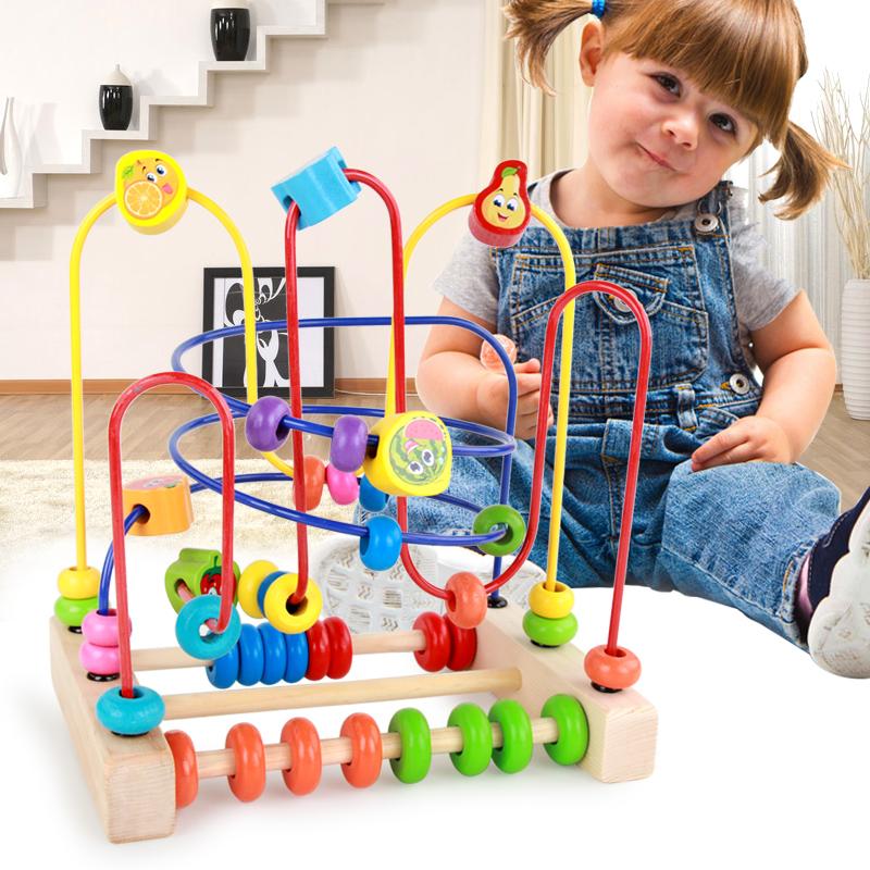 Большой размер украшенный бусами обшитый бисером 1-2-3 полный год мужской и женщины ребенок младенец младенец ребенок 6-12 ребёнок возрастом … месяцев головоломка строительные блоки игрушка