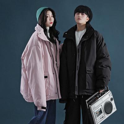 CZ03*P140 2018冬季港风新品男士立领棉衣宽松保暖面包服中性外套