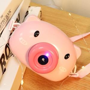 吹泡泡机小猪吹泡泡相机抖音同款儿童网红少女心全自动泡泡枪玩具