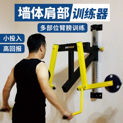 Wall shoulder trainer arm shoulder lift training consumer and commercial fitness shoulder lift machine side flat lift wall-mounted trainer