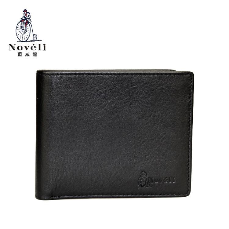 NovelI lanweilong mens wallet short horizontal 5OH series genuine fall grain cowhide fashion business