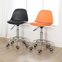 吧台椅家用升降旋转椅靠背小圆凳子收银台椅子前台椅实验室滑轮椅