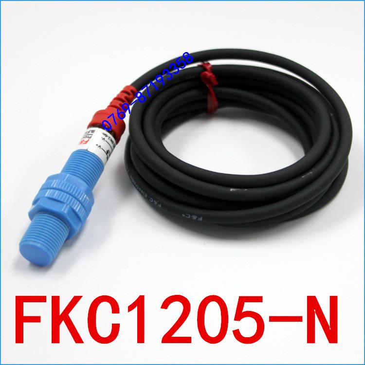 原装全新嘉准传感器F&C电容接近开关FKC1205-N三线NPN常开24V正品