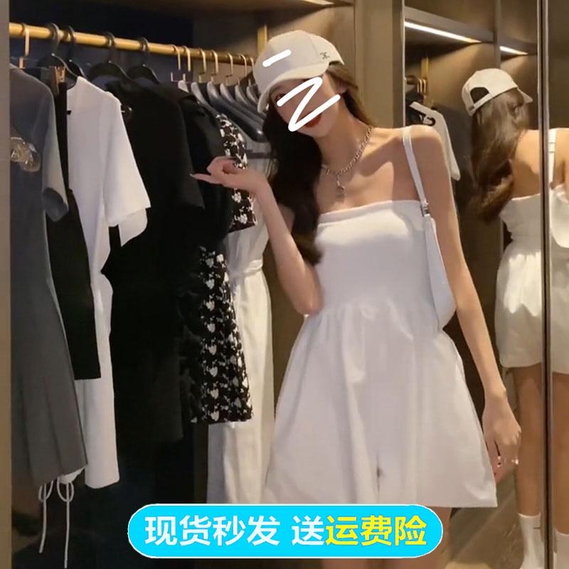 小衣橱2021夏季新款法式气质连衣裙女性感百搭抹胸连体裤裙管家