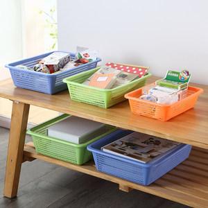 塑料菜篮子大小号水果菜筐方筛子长方形玩具收纳篮厨房沥水洗菜篮