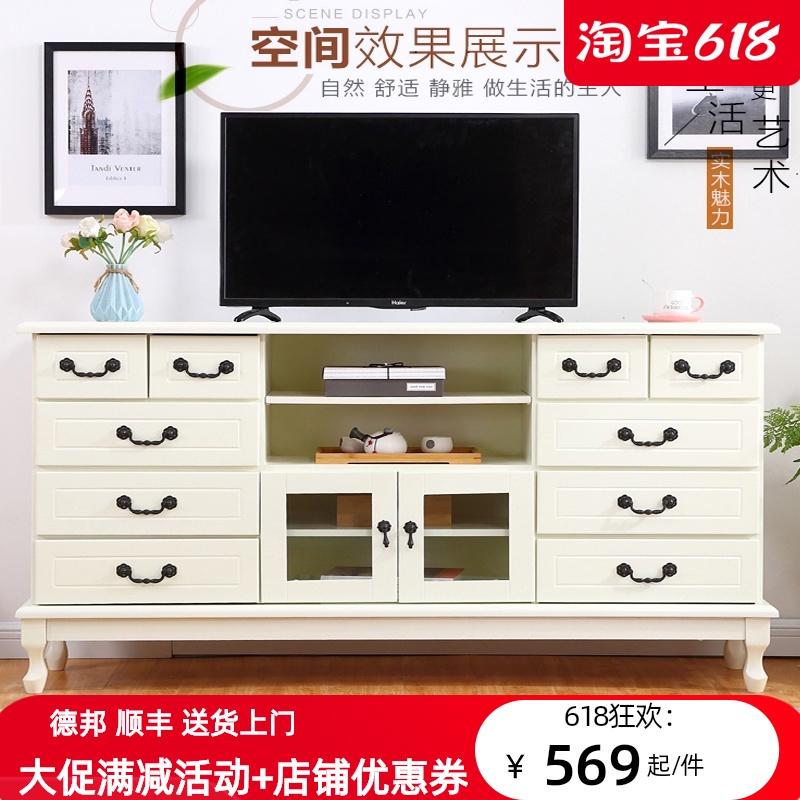 ヨーロッパのテレビキャビネット、木製のリビングルーム、ホワイトテレビキャビネット現代簡単なベッドルームの斗キャビネットのストレージキャビネット現代