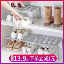双层鞋架省空间置物架家用神器客厅鞋托塑料厨房鞋子拖鞋收纳鞋柜图片