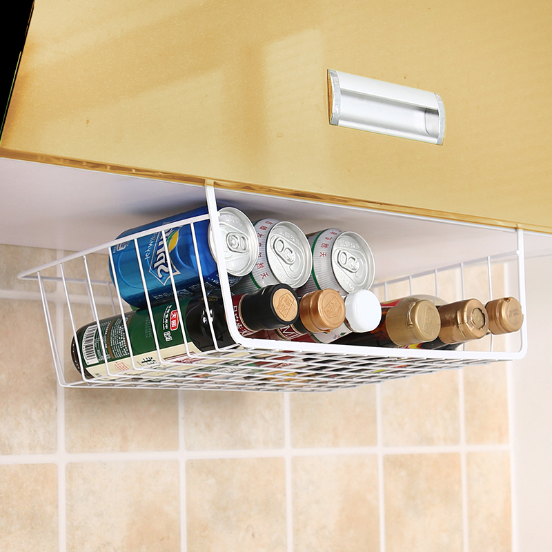 橱柜可移动夹缝创意金属桌面收纳架