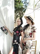 四斤自制芳踪白年轻款上海旗袍中国风少女时尚性感气质改良连衣裙