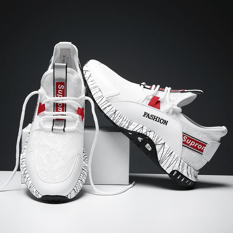 男士运动鞋2019新款潮流夏季休闲鞋透气鞋薄款男鞋白鞋子夏天网鞋