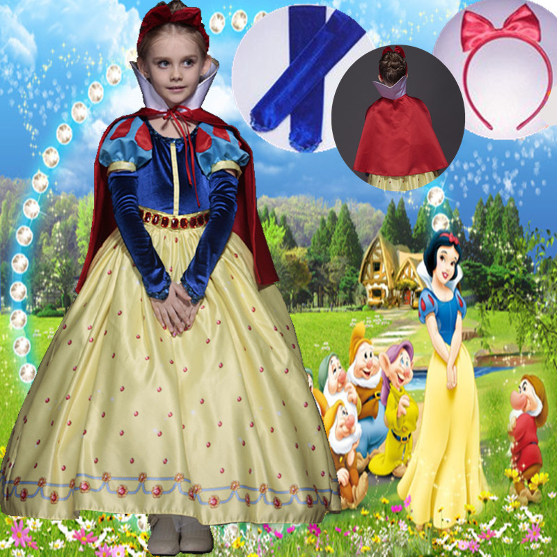 Childrens snow white skirt Disney fairy tale role play large-scale Fairy Tale Costume birthday activities