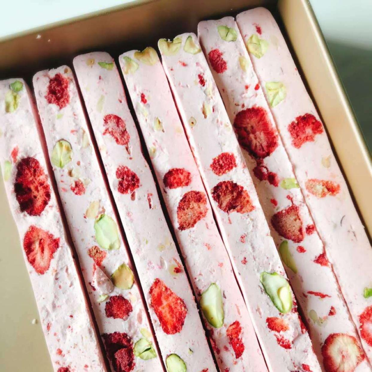 草莓粉烘焙原料 雪花酥食用烘培乐滋冻草莓干芒果干脆碎即冲即饮