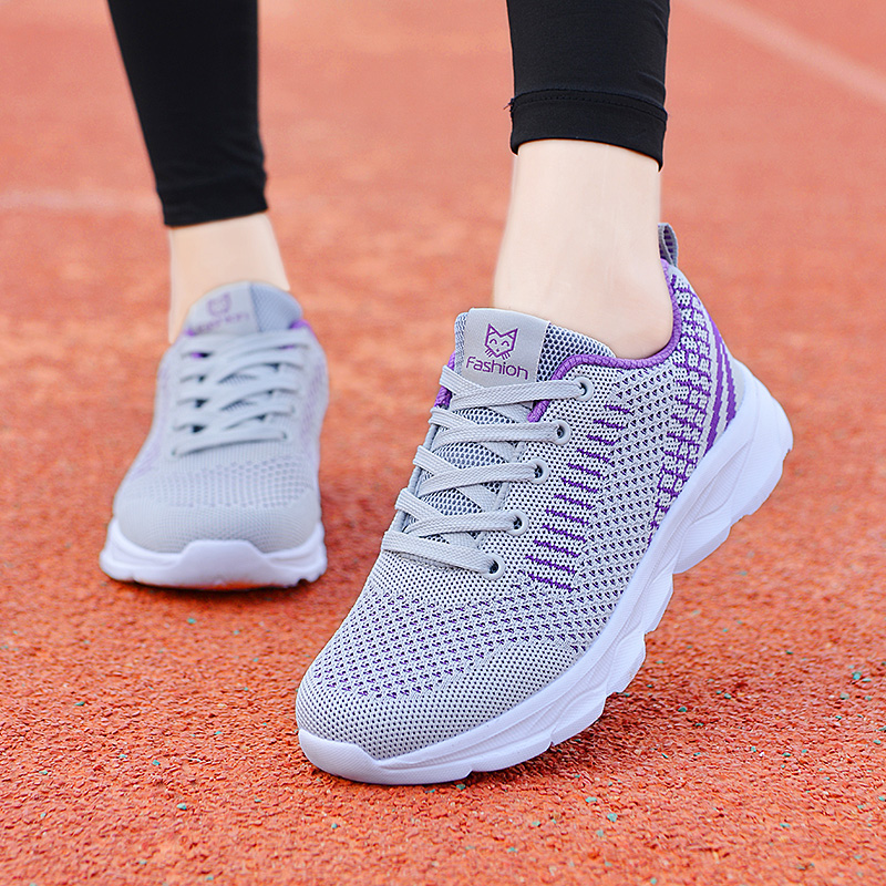 Womens shoes with broken size Diva Jordan spring and summer breathable sports shoes students mesh running shoes light and odor proof travel shoes
