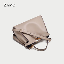 ZAMO Retro Commuter Handbag Female 2019 New Chao Korean Kitten Bag Leather Lock Button Single Shoulder Slant Bag