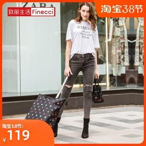 致丽生活可折叠购物袋拖轮包买菜拉杆购物车旅行收纳袋便携行李包