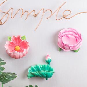 客厅墙上立体花朵玄关创意墙饰墙面欧式墙壁挂饰装饰品挂件壁饰
