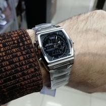 AT8110西铁城日本官方正品光动能电波表防水休闲时尚潮流皮带男表