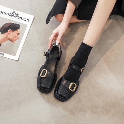 玛丽珍女鞋jk鞋子女2021年新款复古单鞋女中跟爆款英伦风小皮鞋女