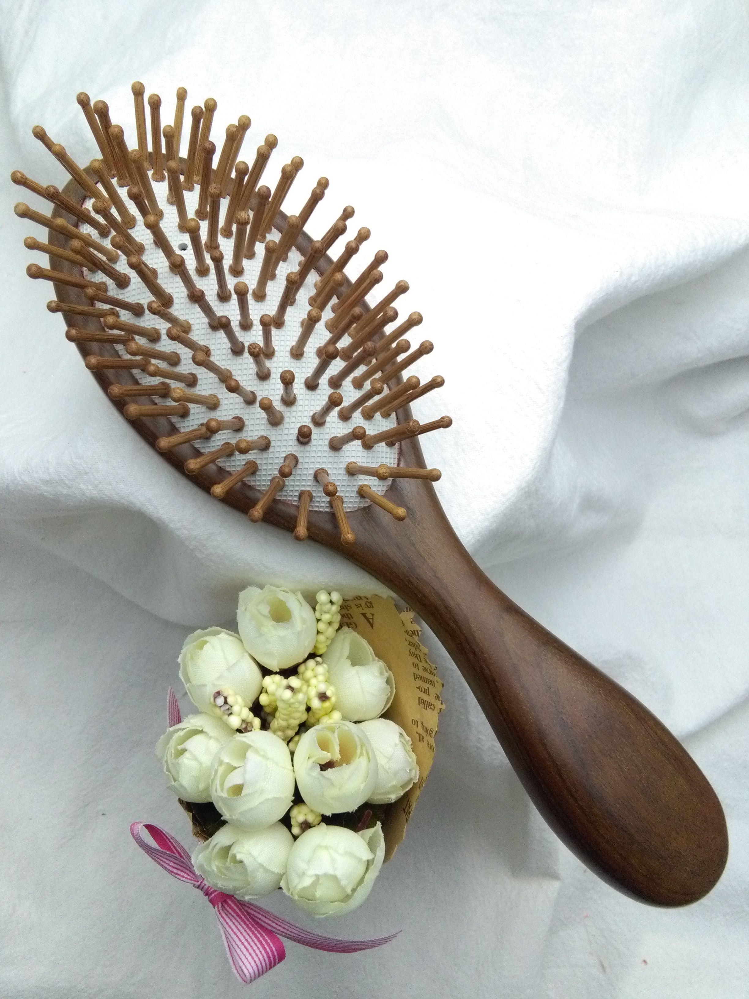 Скальп массаж гребень борьбы с выпадением волос голова уход за волосами гребень гребень подушка безопасности гребень антистатический естественный рулон диван изменения