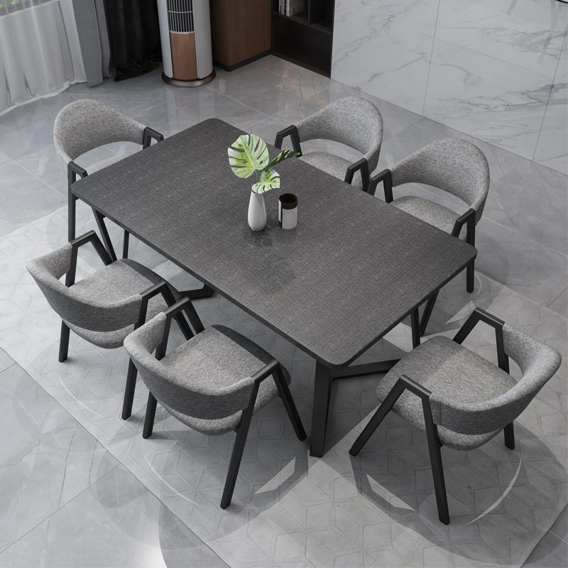北欧現代簡単なテーブルとテーブルの組み合わせレストランのテーブルの大きさは、家庭用長方形の家具4人のテーブルです。
