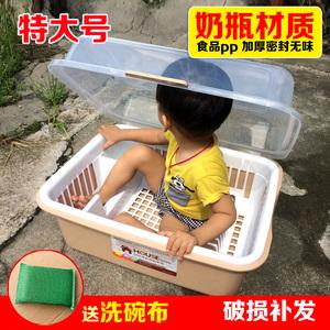 厨房特大号加厚塑料pp碗柜沥水碗架碗盘筷置物架碗盒放碗收纳碗箱
