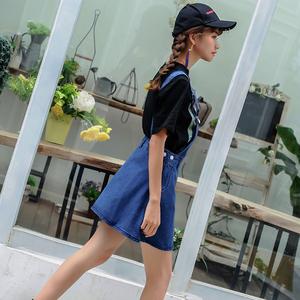 YF28561# 韩版新款百搭牛仔裙女牛仔背带裙牛仔连衣桾牛仔吊带短裙 服装批发直播货源