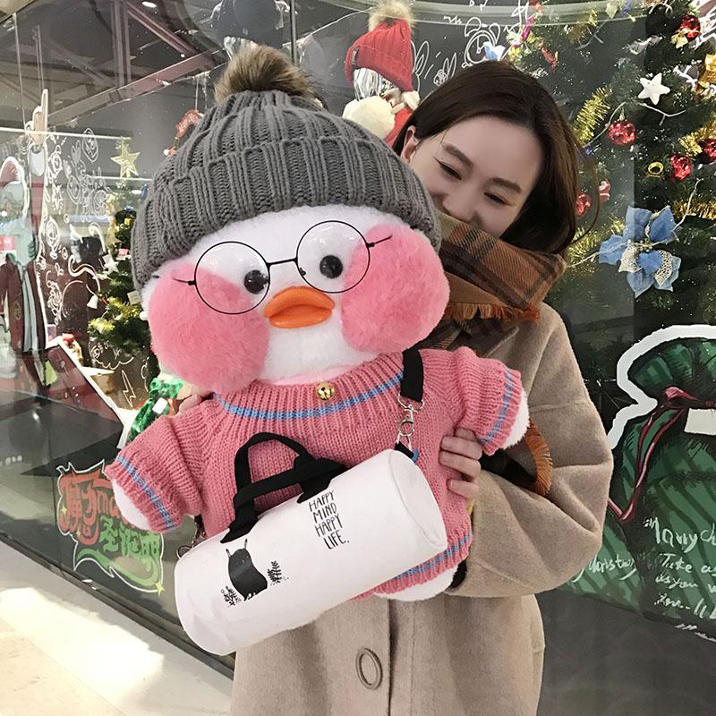圣诞节走心礼ins娃娃网红大号玻尿酸鸭毛绒公仔送女友礼物男友力