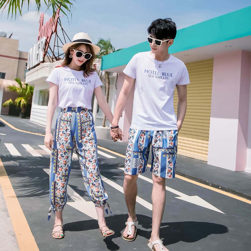 沙滩情侣装夏装海边度假套装男女度