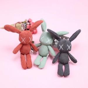 网红萌兔子钥匙扣挂件毛绒韩国可爱长耳朵兔书包少女心挂饰潮公仔