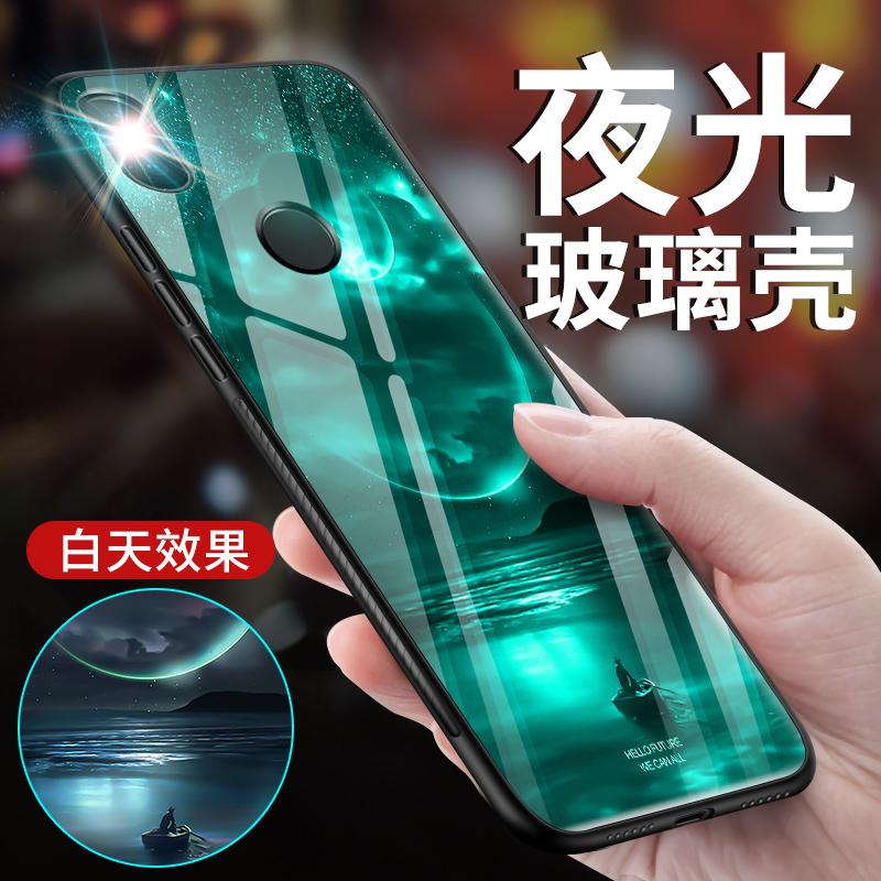 小米8手机壳夜光玻璃镜面小米8se保护套米八潮牌个性创意硅胶男女款硬壳探索版新款指纹超薄6x全包边防摔六