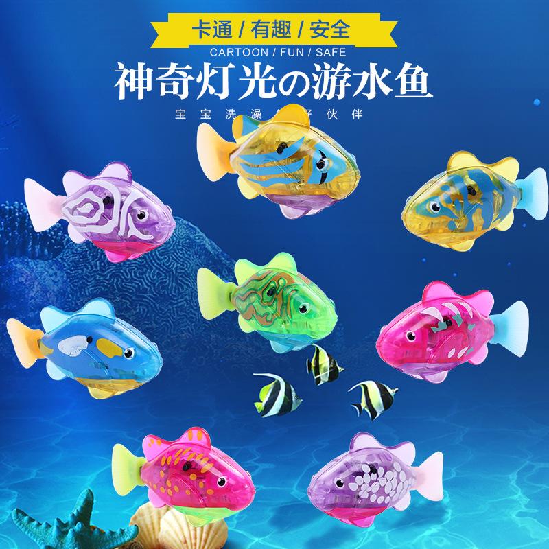 Каждый день специальное предложение волшебный будет издано свет электрический плавать рыба электронный домашнее животное рыба может плавать из купаться купание игрушка