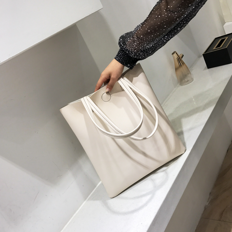 2018新款韩版潮chic文艺软皮包时尚托特包百搭ins手提包单肩包包