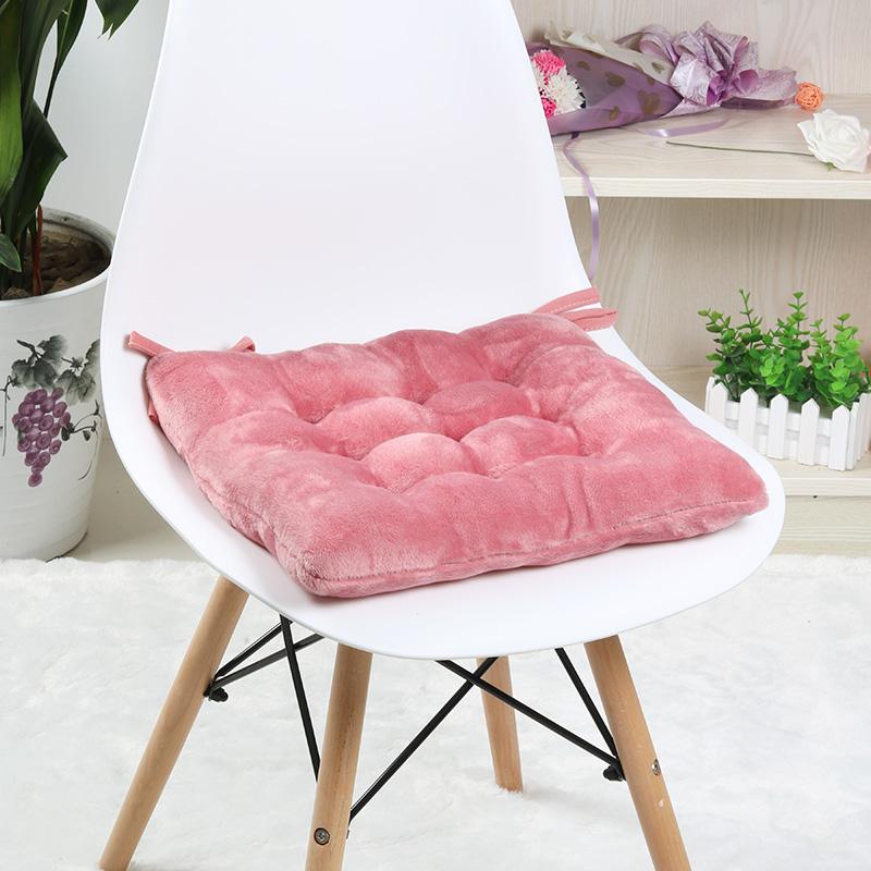 毛绒加厚坐垫椅子椅垫学生板凳坐垫冬季餐椅垫子榻榻米坐垫办公室