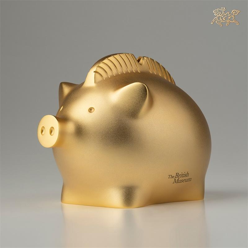 铜师傅战斗猪大英博物馆金猪摆件大号生肖猪存钱罐家居装饰品礼品