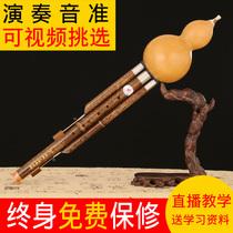 云南D小G调F调大人初学乐器B调专业演奏型降C竹丝乐品牌葫芦丝